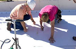 Commercial roofing support