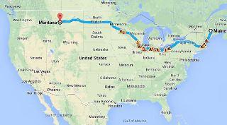 Maine to Montana Trip