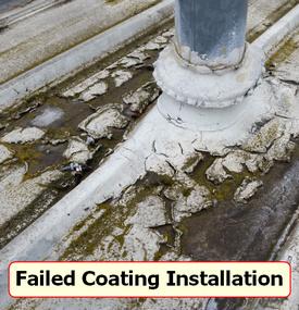 failed coating install
