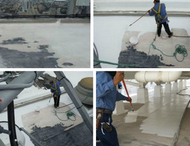 silicone ponding water coating