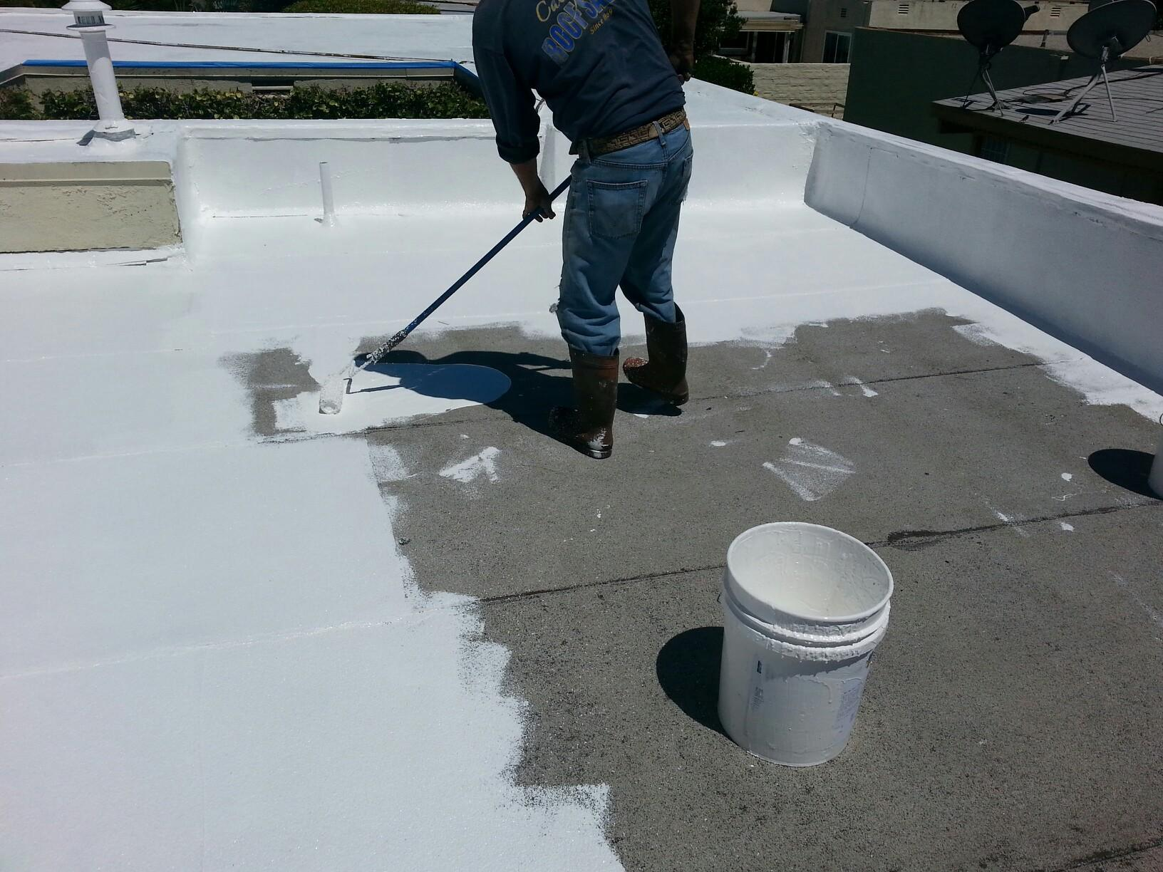 silicone roof coatings installation1
